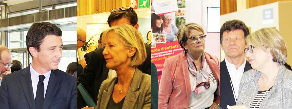 Ministres, élus et personnalités se succèdent au Village de l'emploi à domicile