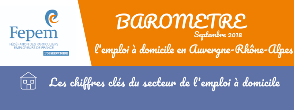 Baromètre n°26 : L'emploi à domicile en Auvergne-Rhône-Alpes
