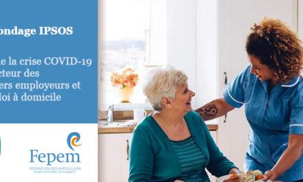 Sondage IPSOS – impact de la crise COVID-19 sur le secteur des particuliers employeurs et de l'emploi à domicile
