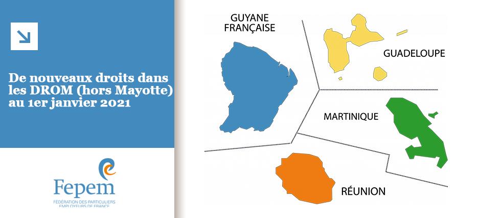 De nouveaux droits dans les DROM (hors Mayotte) au 1er janvier 2021