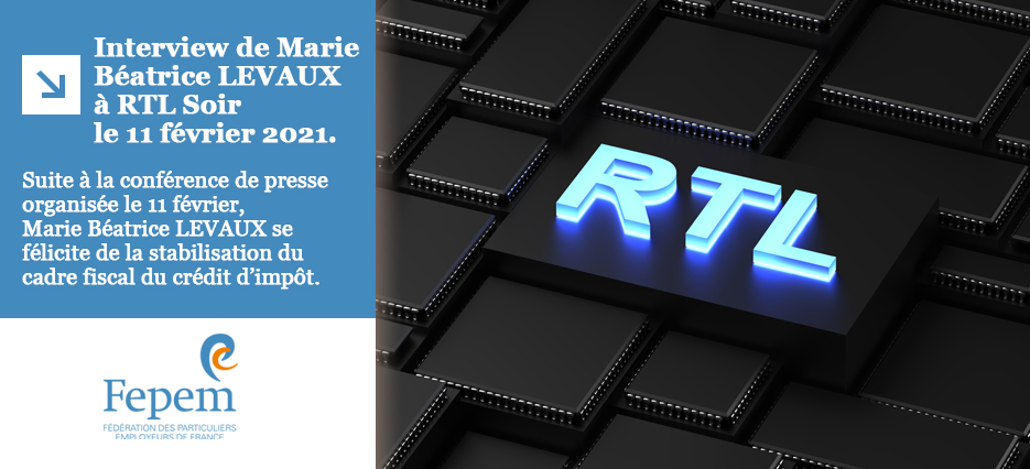Interview de Marie Béatrice LEVAUX à RTL Soir le 11 février 2021