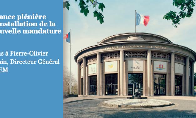 LA FEPEM au RDV de la séance plénière d'installation de la nouvelle mandature du CESE