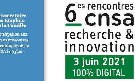 L'Observatoire participe aux 6ème Rencontres scientifiques de la CNSA, le 3 juin